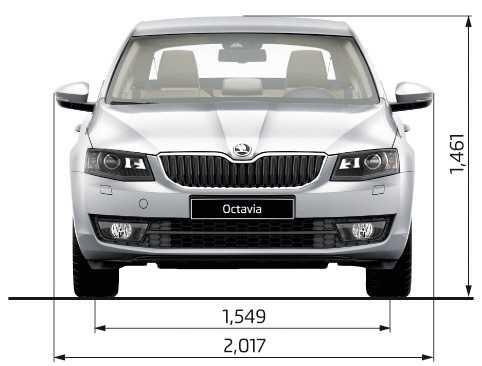 Технические характеристики и габариты новой Шкода Октавия А7