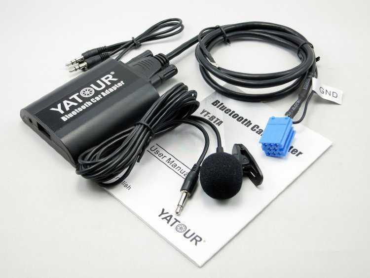 Адаптер Yatour YT-BTA VW12 для магнитол Volkswagen / Audi / Skoda 12-pin купить в Москве   Yatour