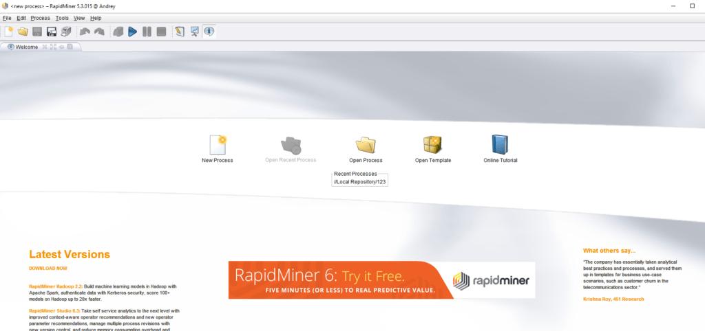 RapidMiner — платформа для анализа больших данных — Блог бизнес архитектура