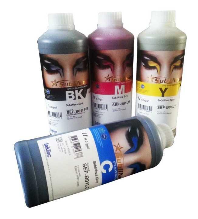 Чернила InkTec SubliNova Rapid для печатающих голов Epson DX5 и DX7 (SEB-B100M-4), сублимационные, комплект 4 цвета по 100 мл по цене 2760 руб.