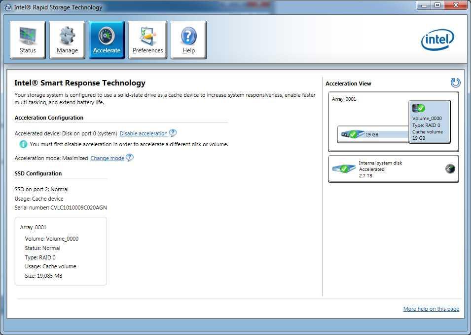 Обзор продукции для технологии хранения Intel® Rapid